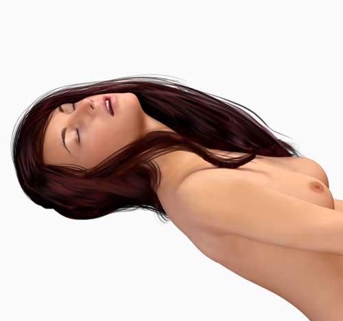 woman laid back having an orgasm