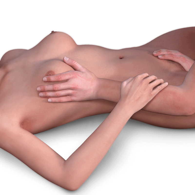 man's hands on a woman's body discovering the G Spot